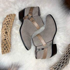 Sam Edelman taupe/tan Phoenix harness ankle boots